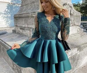 dresses, lace dress, and prom dress image