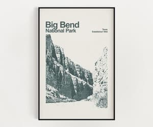 big bend, minimalist wall art, and national park poster image