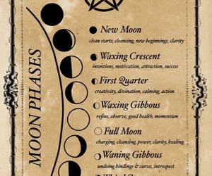 moon phases and wicca image