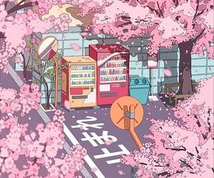 anime, blossom, and japan image