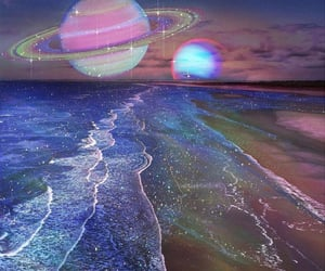 glitters, mystic, and planets image