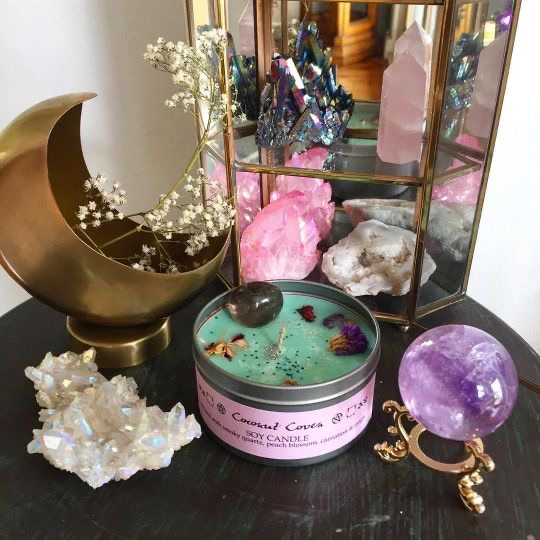magic, crystals, and witchy image