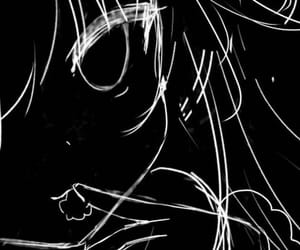 anime, picture, and black image