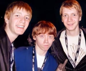 ron weasley, james phelps, and oliver phelps image