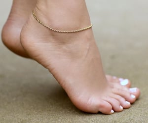feet, sexy, and anklet image