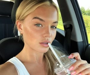 car, smoothie, and selfie image