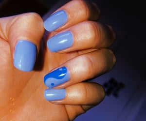 blue, yingyang, and nails done image