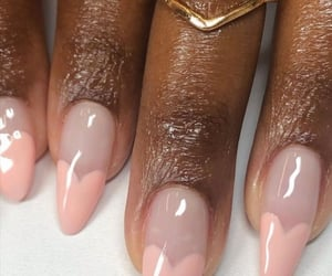 pink, nails, and Nude image