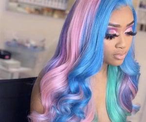 colorful, eyelashes, and hairstyles image