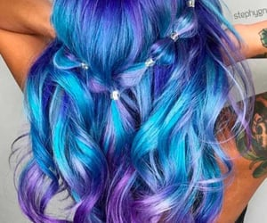 blue, curls, and inspo image