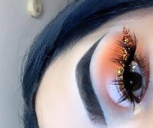 beauty, inspo, and orange eyeshadow image