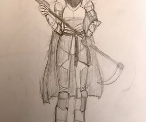 armor, warrior, and art image