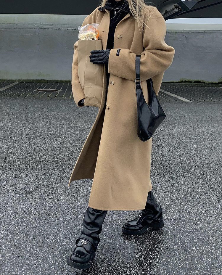 classy, street style, and winter wear image