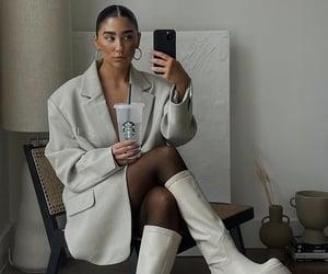 chic, glam, and white blazer image