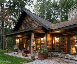 chalet, outdoor, and house decor image