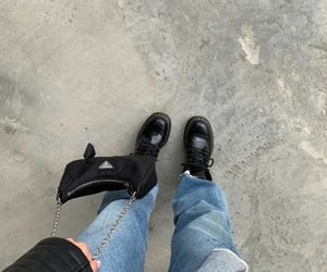 bags, black, and boots image