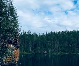 lake, beautiful, and finland image