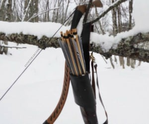 archery, snow, and winter image