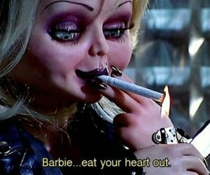 barbie, horror, and iconic image
