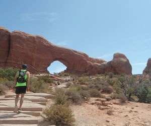 arches, hike, and jogger image