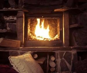 cozy, fire, and interior decor image
