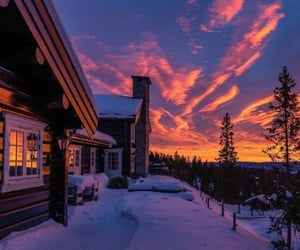 cabins, comfortable, and clouds image