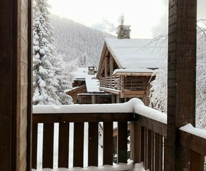 chalet, comfortable, and winter image