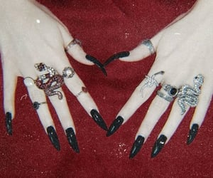 black, nail, and witch image