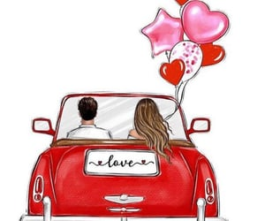 balloons, I Love You, and together forever image