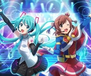 anime girl, hatsune miku, and game image