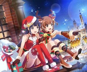 anime girl, christmas, and game image
