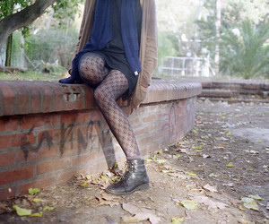 girl, tights, and boots image