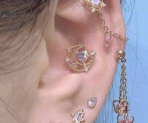 earrings, jewelry, and ears pierced image