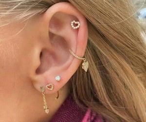 earrings and ears pierced image