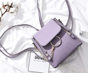 purple and handbag image
