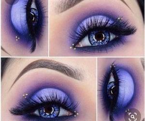 beauty, eyelashes, and purple eyeshadow image