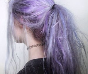 aesthetic, purple hair, and lilac hair image