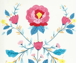 floral, gouache, and painting image