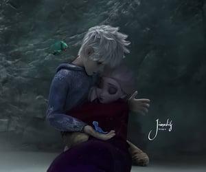 animation, jack frost, and elsa image
