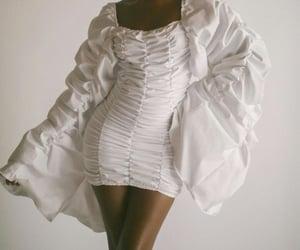 clothes, mini dress, and white dress image