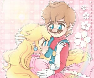 princess peach and super mario image