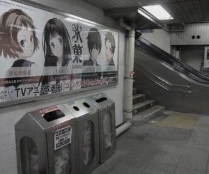 anime, japan, and subway image