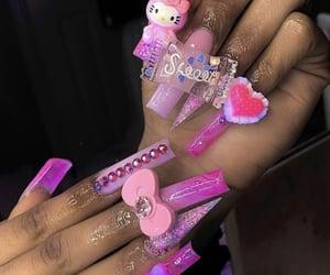 fashion, hair, and long nails image