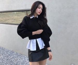 asian, black&white, and elegant image