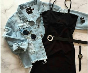 accessories, denim jacket, and inspiration image