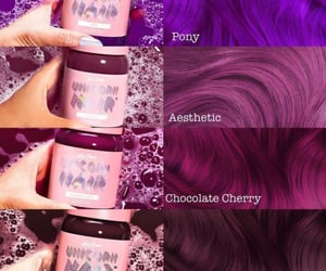 burgundy, hair styles, and unicorn hair image