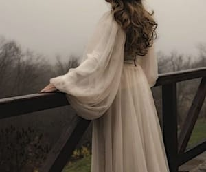 gown, scenarios, and balcony image