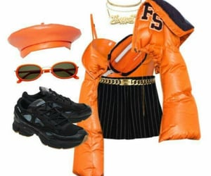accessories, beret, and black sneakers image