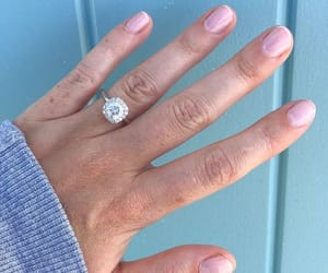 engaged, engagement ring, and proposal of marriage image