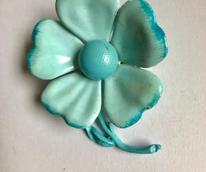 blue flower, etsy, and flower power image